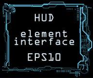 Futuristic user interface HUD Stock Photo