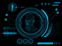 Futuristic user interface HUD. Futuristic virtual graphic user interface HUD Stock Images