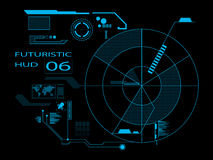 Futuristic user interface HUD. Futuristic virtual graphic user interface HUD royalty free illustration