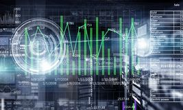 Futuristic user interface. Mixed media Royalty Free Stock Photography