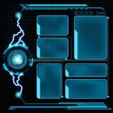 Futuristic user menu interface HUD Royalty Free Stock Images