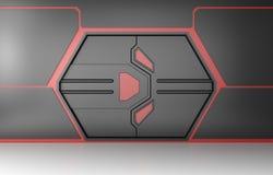 Futuristic utfärda utegångsförbud för vektor illustrationer