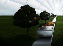 futuristic växthus Stock Illustrationer