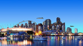 Futuristic Vancouver Canada Stock Image