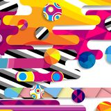 Futuristic vector abstract background made of rounded shapes. Stripes, lines and circles with fashion patterns royalty free illustration