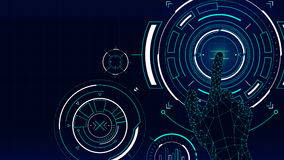 Futuristic vector background, hud technology touch screen interface Royalty Free Stock Photos