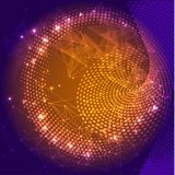 Futuristic vector illustration. Hi-tech digital technology concept. Abstract background for computer graphic website internet and business Stock Photos