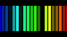 Futuristic video animation, loop HD 1080p. Futuristic video animation with moving stripe object and blinking light, loop HD 1080p stock video