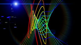 Futuristic video animation, loop HD 1080p. Futuristic video animation with moving stripe object and light, loop HD 1080p stock video footage