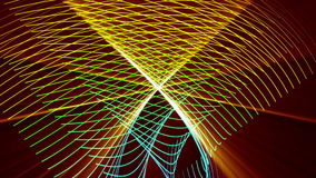 Futuristic video animation, loop HD 1080p. Futuristic video animation with moving stripe object and light, loop HD 1080p stock footage