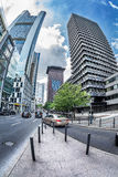 Futuristic view of the Grosse Gallusstrasse  street. Royalty Free Stock Photography