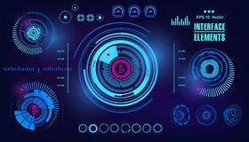 Futuristic virtual graphic touch user interface, HUD Stock Images