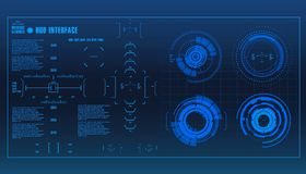 Futuristic virtual graphic touch user interface, HUD Stock Image