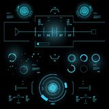 Futuristic virtual graphic touch user interface, HUD Royalty Free Stock Photo