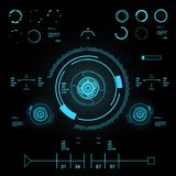 Futuristic virtual graphic touch user interface, HUD Royalty Free Stock Photography