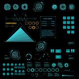 Futuristic virtual graphic touch user interface, HUD Stock Photos