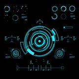 Futuristic virtual graphic touch user interface, HUD Royalty Free Stock Photos