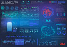 Futuristic virtual graphic touch user interface, target. HUD UI for business app. Futuristic user interface HUD and Infographic elements. Abstract virtual Stock Image