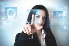 Futuristic virtual screen royalty free stock photo