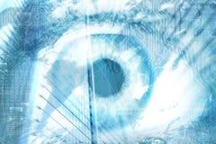 futuristic vision arkivfoton