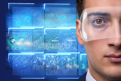 The futuristic vision concept with businessman Stock Photos