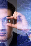 The futuristic vision concept with businessman Stock Images
