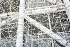 Futuristic wall design in the cobweb form Stock Photography