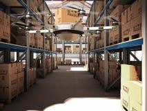 Futuristic warehouse Royalty Free Stock Photography