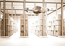 Futuristic warehouse Stock Photos