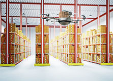 Futuristic warehouse Stock Photography