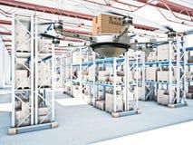 Futuristic warehouse Royalty Free Stock Image