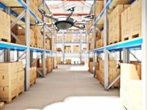 Futuristic warehouse Stock Photo