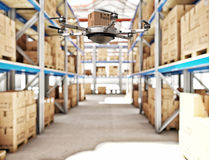Futuristic warehouse Royalty Free Stock Images
