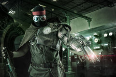 Futuristic warrior Stock Photo