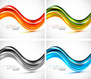 Futuristic wave background Stock Photography