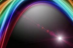 Futuristic wave background design with lights Stock Photos