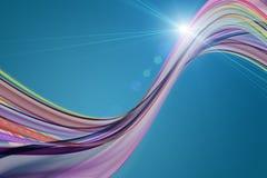 Futuristic wave design with light Stock Image