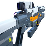 Futuristic weapon Stock Image