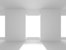 Futuristic White Architecture Design Background Royalty Free Stock Images