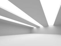 Futuristic White Architecture Design Background Stock Photography