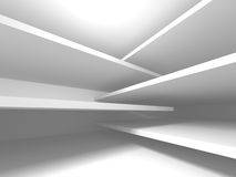 Futuristic White Architecture Design Background Royalty Free Stock Photography
