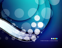 Futuristic white wave design Royalty Free Stock Photos