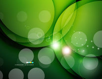 Futuristic white wave design. On color background with circles Stock Photography