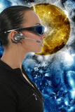futuristic woman στοκ φωτογραφίες με δικαίωμα ελεύθερης χρήσης
