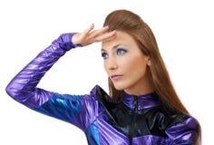 Futuristic woman. Stock Photos