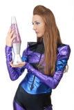 Futuristic woman. Stock Images