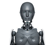 Futuristic woman Stock Photo
