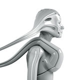 Futuristic woman Stock Photos
