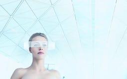 Futuristic woman portrait Royalty Free Stock Photography