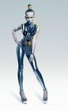 Futuristic woman in silver leggings Royalty Free Stock Image